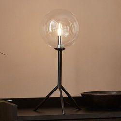 Markslojd Andrew 107749 Lampa stołowa lampka 1x20W G9 czarny/przezroczysty