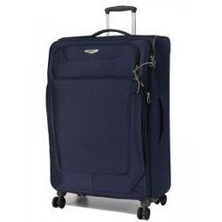 SAMSONITE duża walizka 4 koła z kolekcji SPARK zamek z certyfikatem TSA materiał poliester z możliwością poszerzenia