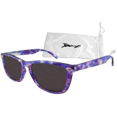 Okulary przeciwsłoneczne dzieci 4 10lat UV400 BANZ Flyer Purple Tortoise (9330696015837)