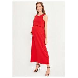Sukienka ciążowa maxi czerwona 5o38b1 marki Cool mama