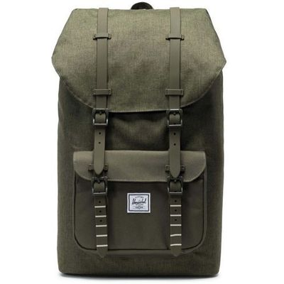 3420e04aa598b Herschel Plecak - little america olive night crosshatch olive night (02453)