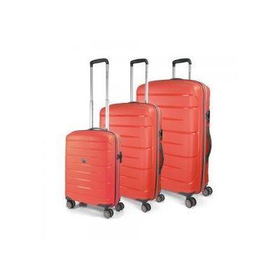 e7a1454cf913e Komplet walizek MODO by RONCATO z kolekcji STARLIGHT 2.0 zestaw duża +  średnia + mała/ kabinowa 4 koła materiał Polipropylen zamek szyfrowy TSA