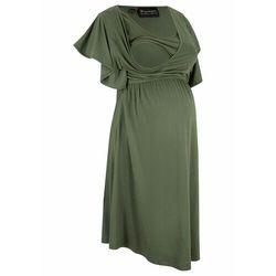 Sukienka ciążowa i do karmienia lenzing™ ecovero™ ciemny khaki marki Bonprix