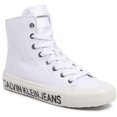 Tenisówki jeans deloris b4r0808 white, Calvin klein, 35 40