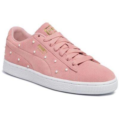 Puma Sneakersy suede pearl studs wn's 369934 02 bridal rose puma team gold