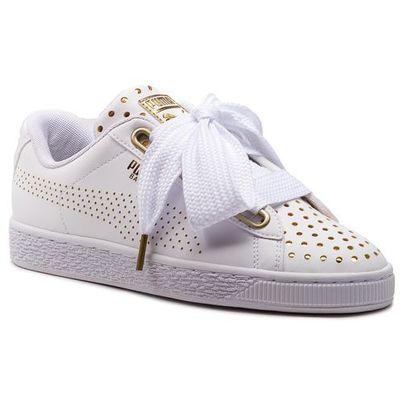 Puma Sneakersy basket heart ath lux wn's 366728 01 puma whitepuma white