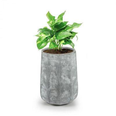 Blumfeldt Decaflor Doniczka Na Rośliny 40x50x40cm Włókno Szklane Do Wewnątrzna Zewnątrz Jasnoszary
