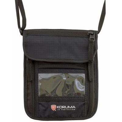 42d99f98b73df Koruma® Portfel paszportówka na szyję z zabezpieczniem rfid stop (czarny)