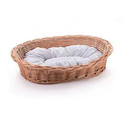 Leżak wiklinowy dla psa kota i innych zwierząt kosz z poduszką (5904906036673)