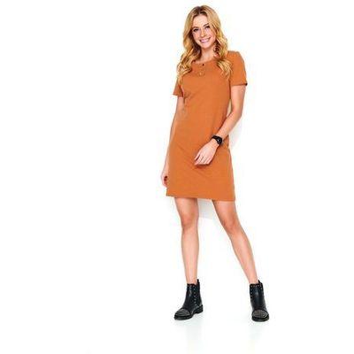 02775fdc Kamelowa dzianinowa sukienka na wiosnę / lato marki Makadamia