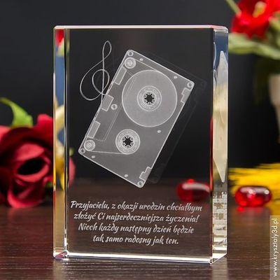 Kaseta 3d Personalizowany Laserowo Kryształ 3d Grawer 3d