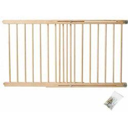 Iso trade Bramka zabezpieczająca schody, drzwi drewniana 72-122 cm