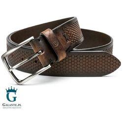 Brązowy pasek skórzany casual jeans Miguel Bellido 4990-40-1612-13, 4990-40-1612-13-MB