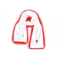 ga1w ogrzewany szalik biały marki Glovii