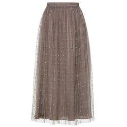 Długa spódnica brązowy, Bonprix, 38-48