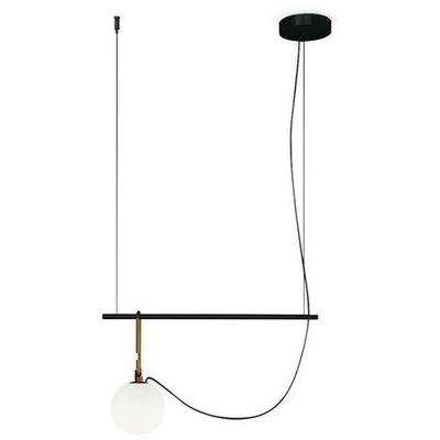 Artemide Nh s1 22 lampa wisząca listwa z kulą led szkło i metal dł.55cm (3663710145361)