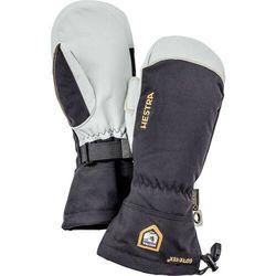 Hestra army leather gore-tex rękawiczki, czarny/biały 8 2021 rękawiczki z jednym palcem (7332540626437)