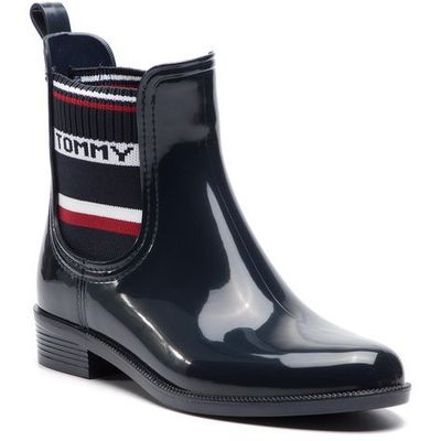 17f8ccff2d05b Kalosze - elastic rain boot fw0fw03836 midnight 403 marki Tommy hilfiger