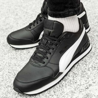 Puma ST Runner Leather v2 (365277 11), kolor czarny