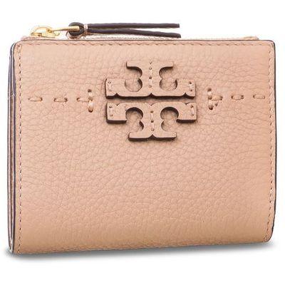 4e61be725a074 Mały Portfel Damski TORY BURCH - Mcgraw Mini Foldable Wallet 45246 Devon  Sand 288