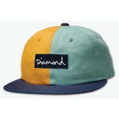 Diamond Czapka z daszkiem split script 2 pan strapback green (grn) rozmiar: os