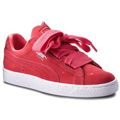 Sneakersy suede heart valentine jr 365135 01 paradise pinkparadise pink, Puma, 35.5 39