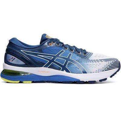 gel nimbus 21 buty mężczyźni, whitelake drive us 9 | eu 42,5 2019 szosowe buty do biegania marki Asics