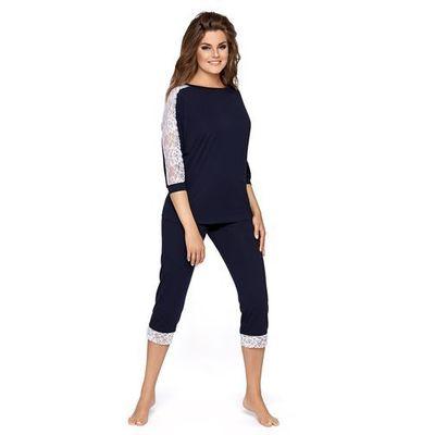 5b149198 Babella toscana granatowy piżama damska, kolor niebieski