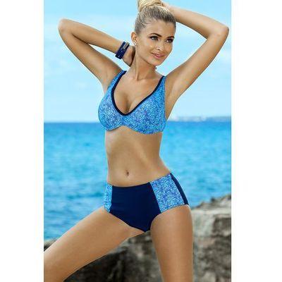 577d0aeea7e560 Ewlon Dominika I, kolor czarny. Kolor: czarny, niebieski. wysmakowany dwuczęściowy  kostium kąpielowy ...