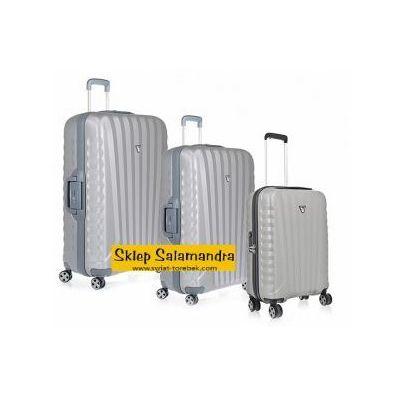 31761870f5eb6 Komplet walizek z kolekcji uno sl super light duża + średnia + mała/  kabinowa 4 koła materiał polipropylen zamek szyfrowy tsa marki Roncato