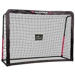 Hudora Bramka piłkarska rebound + mata odbijająca 213x152cm