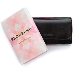 Skórzany portfel damski brodrene a-13 czarny