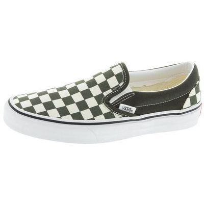 Buty classic slip on checkerboard forest night true white rozmiar 4227cm marki Vans