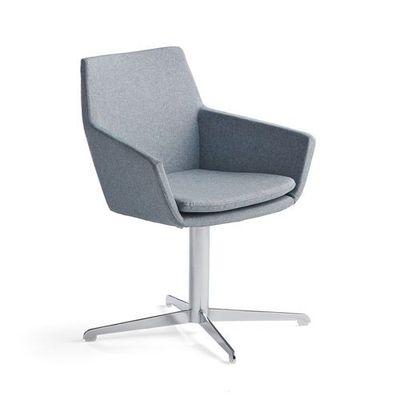 Krzesło konferencyjne fairview, chrom, niebieskoszary marki Aj produkty
