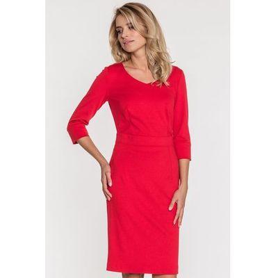 c4988cd4b3 Dopasowana sukienka w kolorze czerwonym - Far Far Fashion