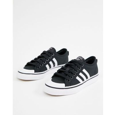 separation shoes d7539 5187b adidas Originals black and white Nizza trainers - Black