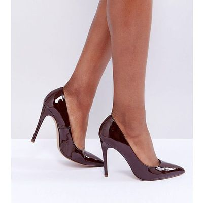 ec276958b08 wide fit paris pointed high heeled court shoes in espresso - brown