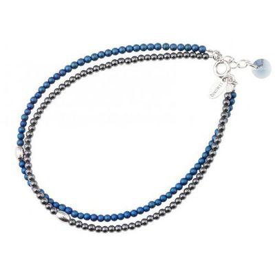 61e0eeb211280e ankabizuteria.pl Biżuteria srebrna bransoletka z hematytem i kryształem  swarovski, kolor szary
