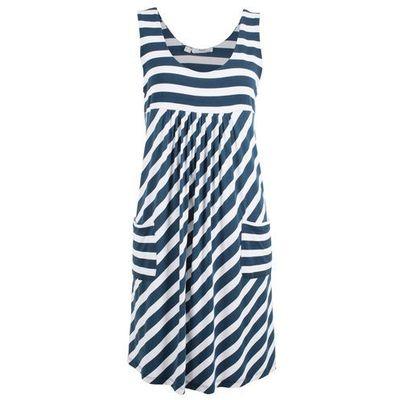 543d23aa9401dd Sukienka ze stretchem w paski ciemnoniebiesko-biały w paski, Bonprix, 36-50