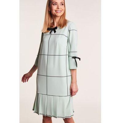 c9c6b1a494 Elegancka sukienka w kolorze miętowym barbara marki Poza