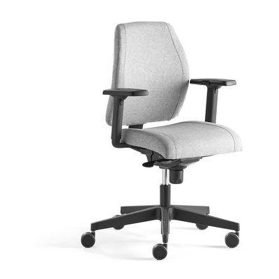 Krzesło biurowe lancaster, niskie oparcie, srebrnoszary marki Aj produkty