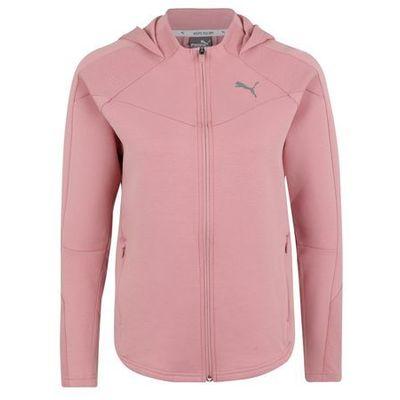 a1fa2ca09 bluza rozpinana sportowa 'evostripe fz' różowy pudrowy / srebrny marki Puma
