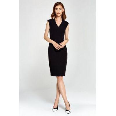 151e8575be Nife dopasowana sukienka z dekoltem v - czarny - s87