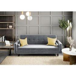 Big meble Sofa kanapa wersalka siena welur szara rozkładana z funkcją spania dostawa 0zł