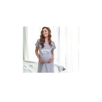 6e15d42188353e Koszula nocna ciążowa i do karmienia happy mommy - grey marki Dn - doctor  nap