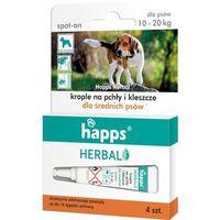 Środki na szkodniki, HAPPS spot-on krople przeciw pchłom i kleszczom dla psów 10-20kg 2ml