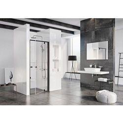 Ravak Pivot drzwi prysznicowe PDOP1-90, wys.190cm Czarny + Transparent 03G70300Z1