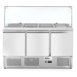 Stół chłodniczy sałatkowy 3-drzwiowy z nadstawą szklaną HENDI 232798