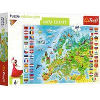 Puzzle, Trefl 15558 Puzzle edukacyjne 160 Mapa Europy