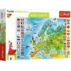 Trefl 15558 Puzzle edukacyjne 160 Mapa Europy